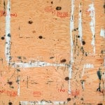 John Clem Clarke, Plywood with Roller Marks #3, 1974