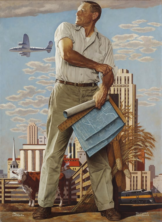 Image result for norman rockwell industry